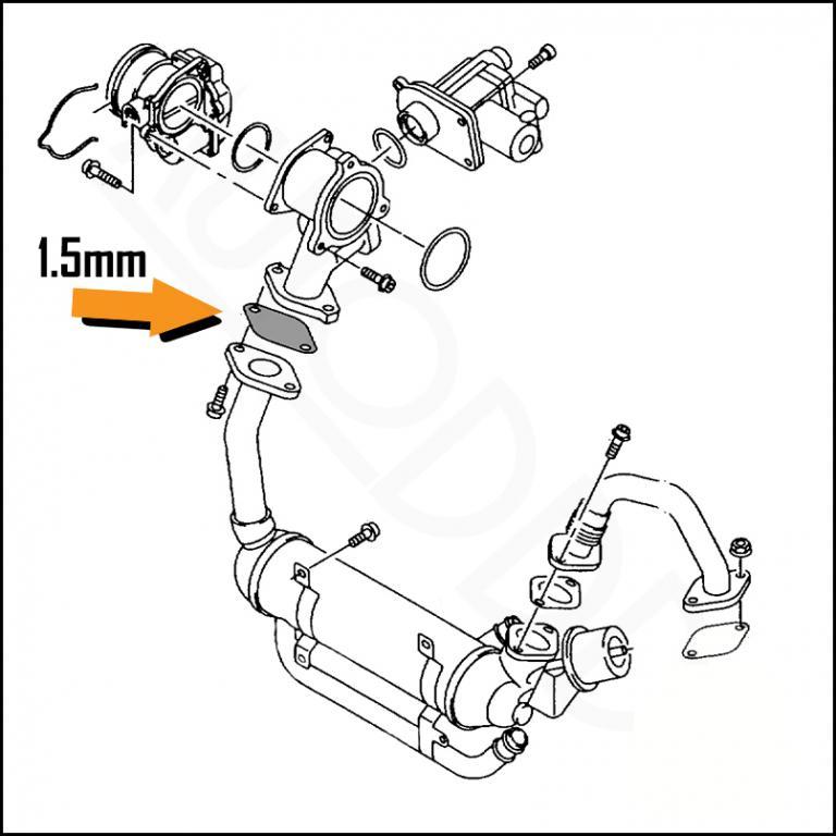 Zaślepka EGR 1.9 TDI AUDi SEAT SKODA VW -1.5mm