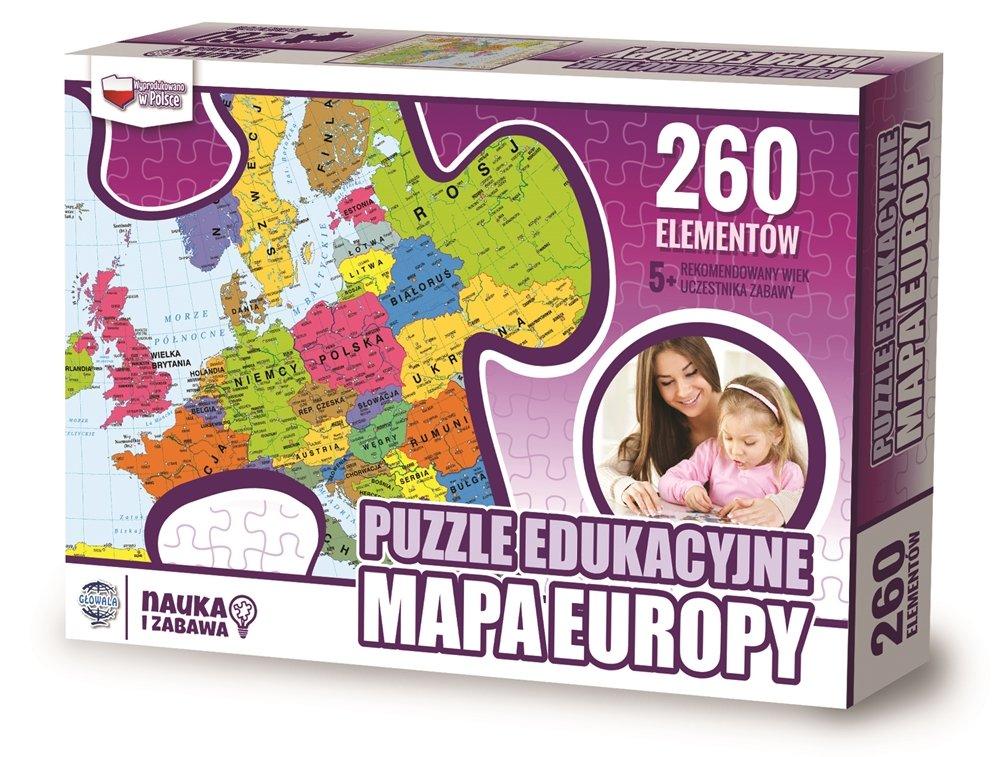 Vzdelávacie hádanky - mapa Európy - 260 EL, 60x40cm