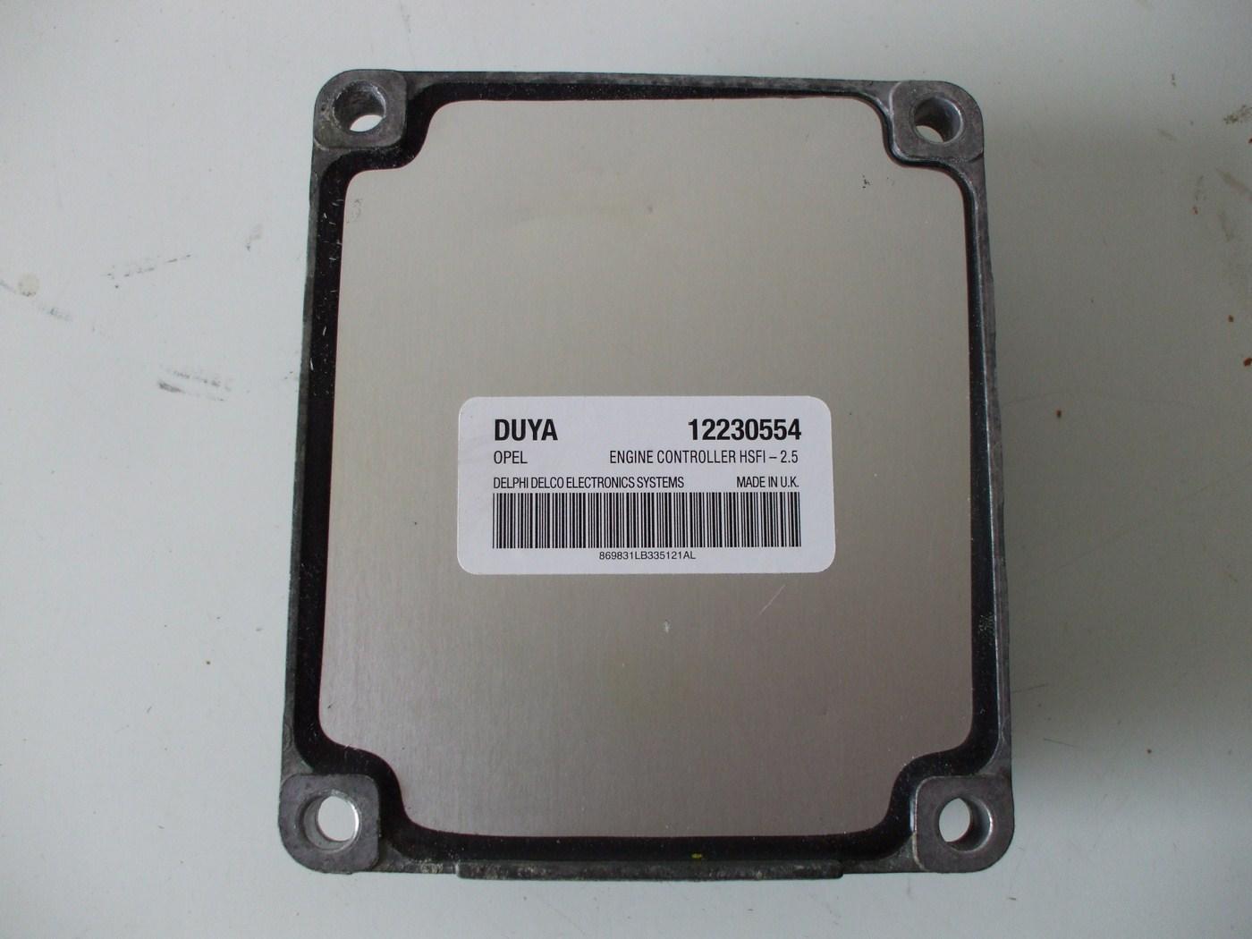 opel meriva 1 6 16v компьютер 12230554 duya wylogow