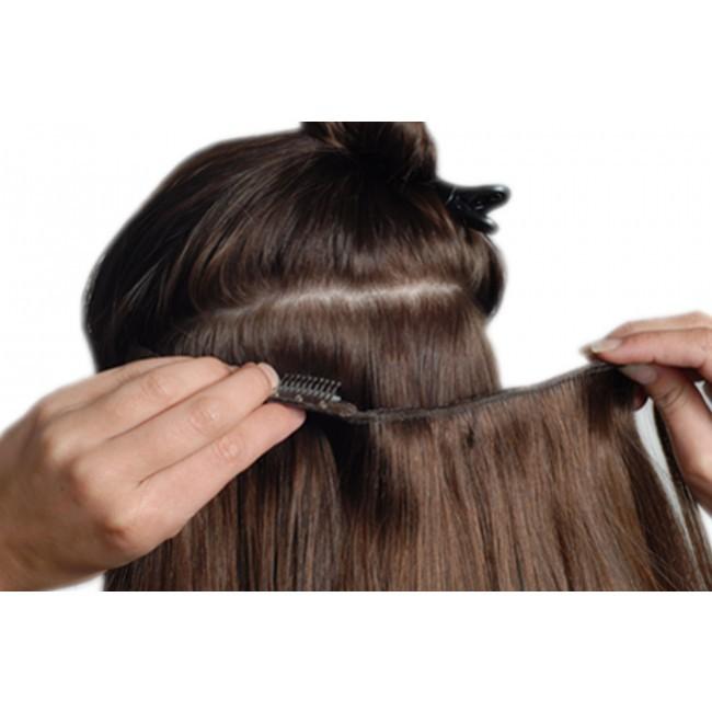 Naturalne doczepiane włosy clip in on 50cm dopinka