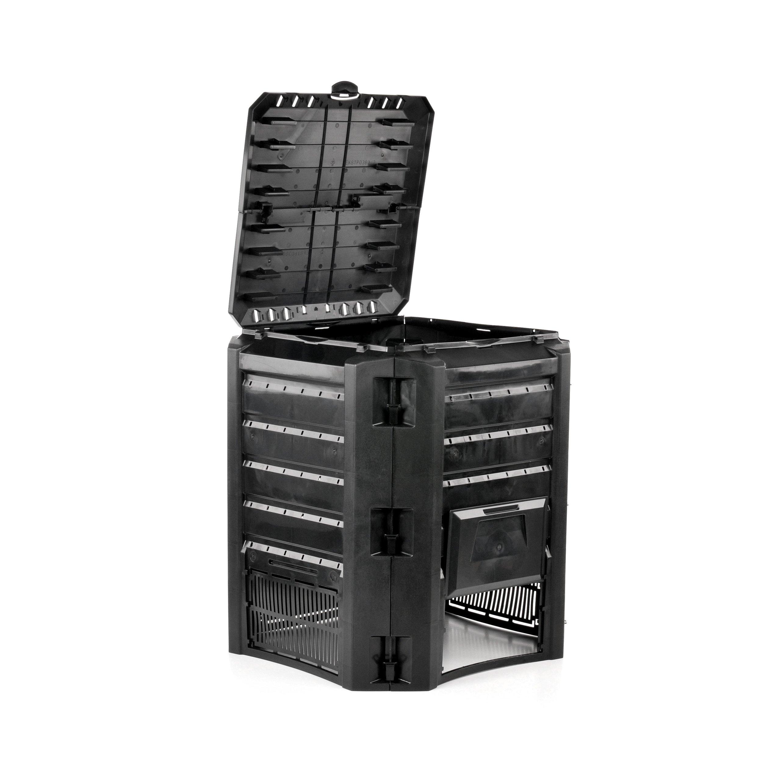 Composter 400L čierny vylepšený model
