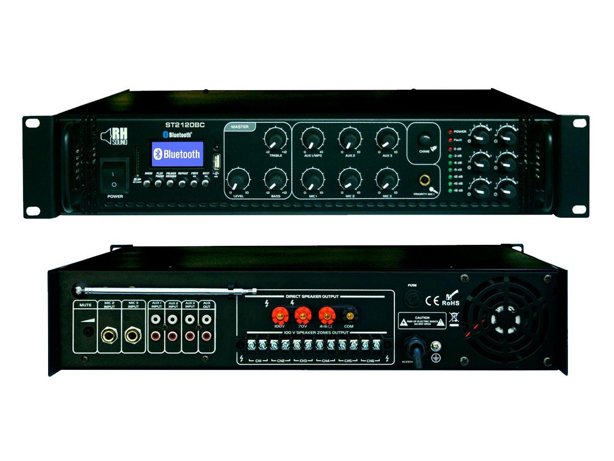 RH SOUND Wzmacniacz 100V ST 2120BC FM BT