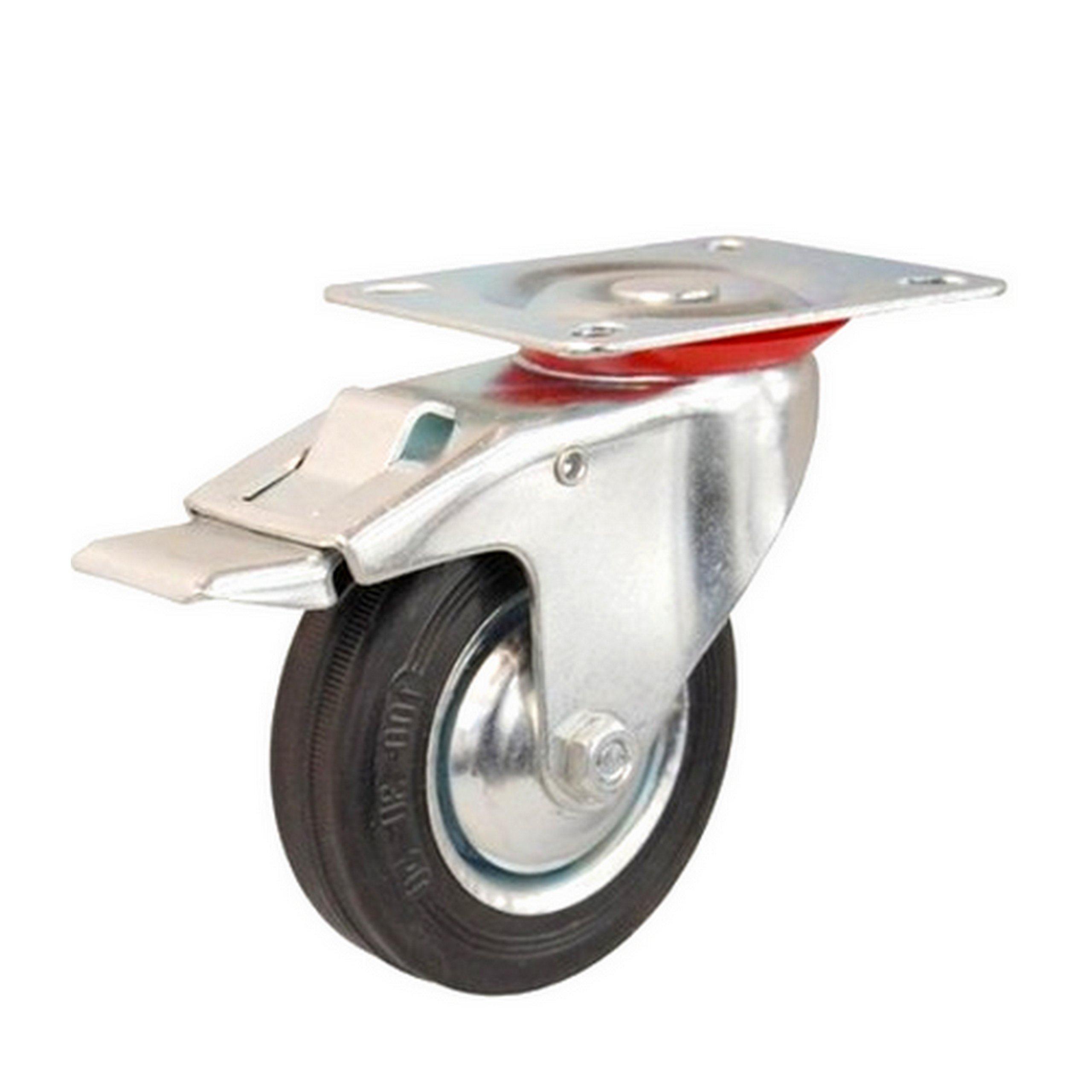 КОЛЕСО ПОВОРОТНЫЕ на ТОРМОЗ, 100мм КОЛЕСО ДЛЯ ТЕЛЕЖКИ колесо колес