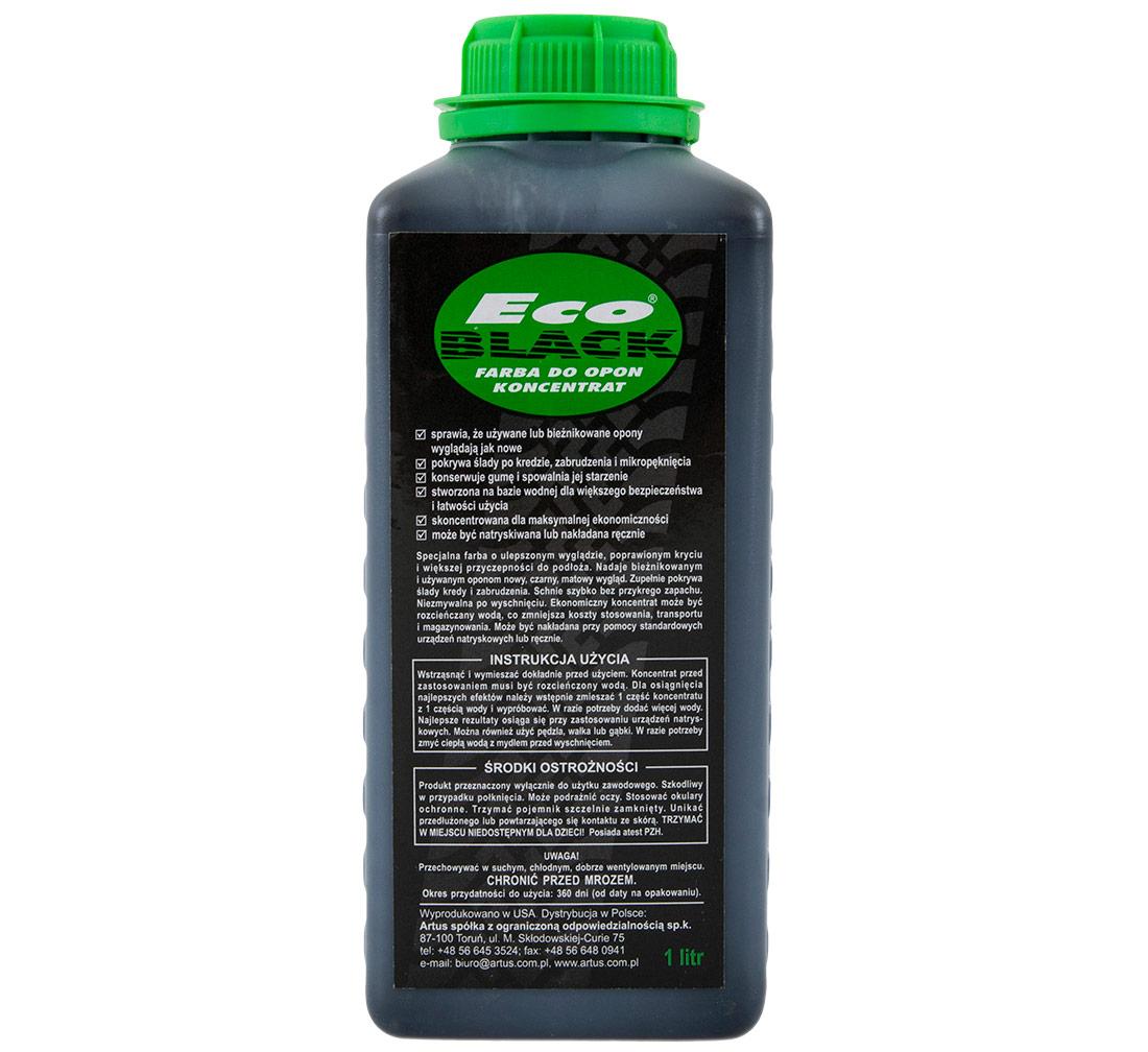 Пропитка краска для шин ECO BLACK Концентрат 1L
