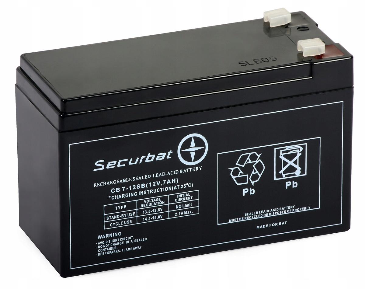Купить Аккумулятор Securbat CB 7-12 SB (12V, 7 Ah) ABCV на Otpravka - цены и фото - доставка из Польши и стран Европы в Украину.