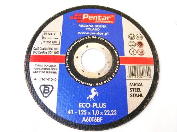 Oceľový rezný štít 125x1 kovový poľský produkt