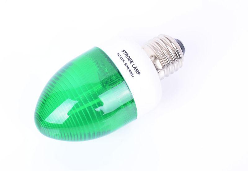 Strroboskopická žiarovka E27 Zelená signalizácia