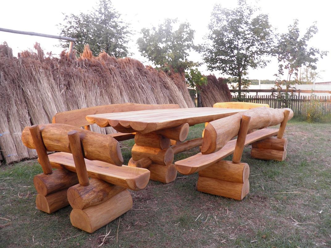 благородный скамейки и столы из бревна фото понравился климат