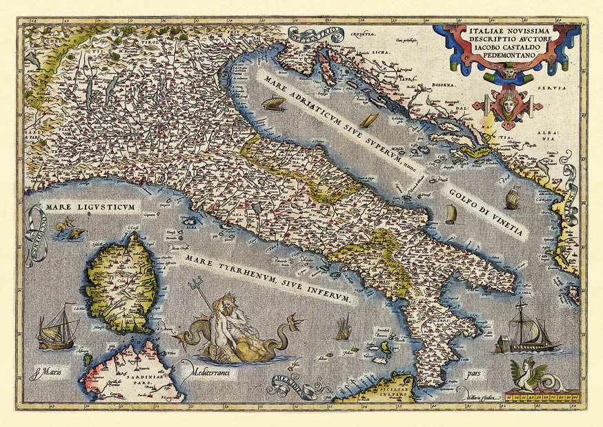 Stará talianska mapa