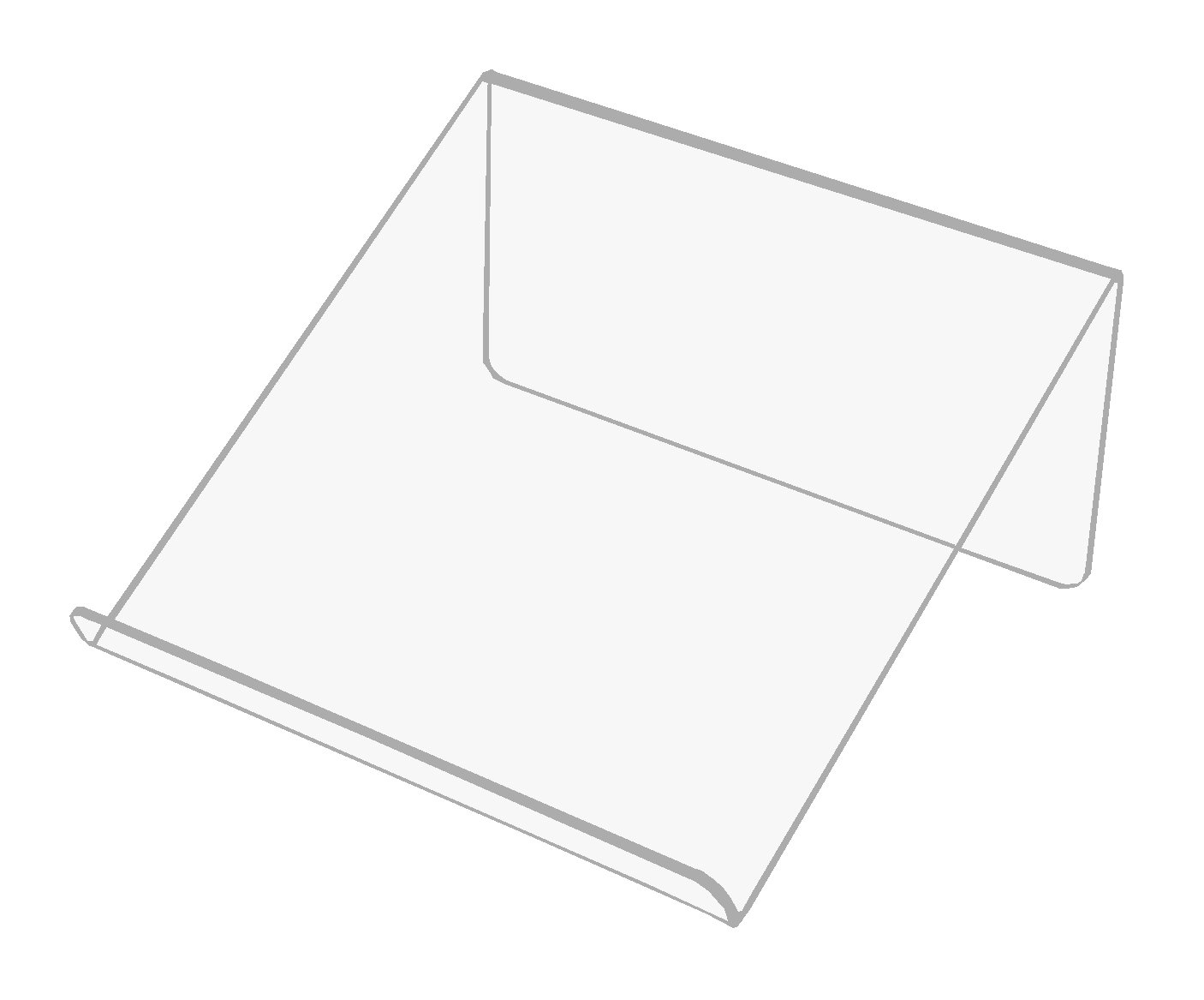 Stojan Stand 25cm Book notebooku s Plexiglass 3mm