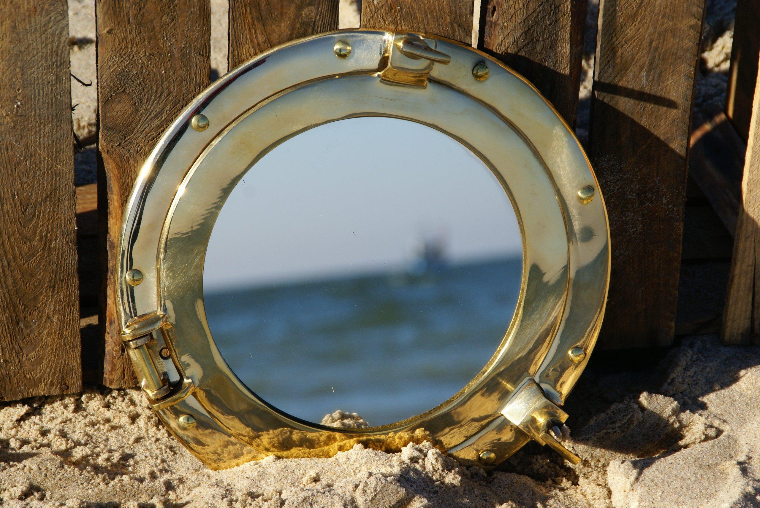 Bulaj - iluminátor zrkadlo mosadz