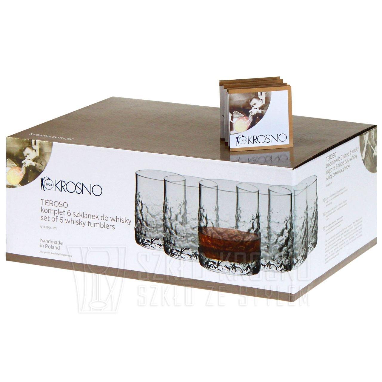 Exkluzívne poháre na whisky KROSNO Teroso 290ml