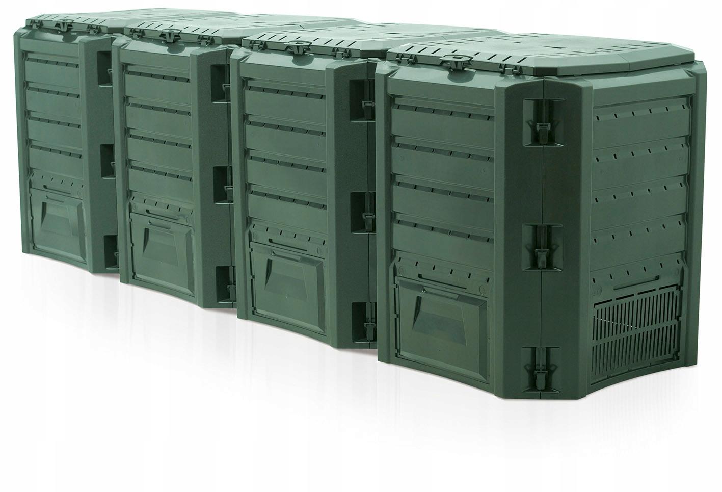 Компостер 1600л, сегментный, 4 камеры Зеленый