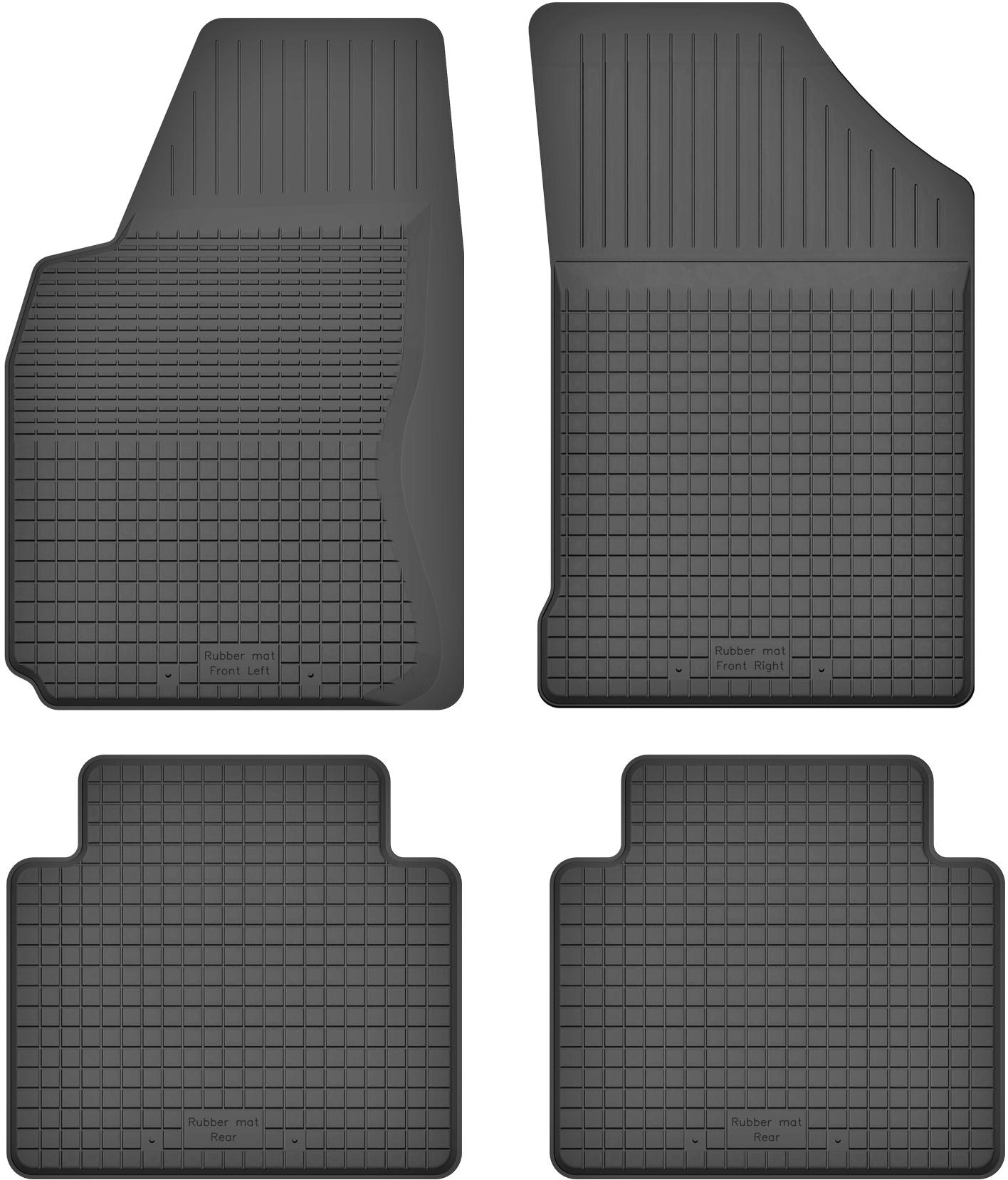 Nissan Note I (06-12) РЕЗИНОВЫЕ КОВРИКИ с БОРТИКОМ