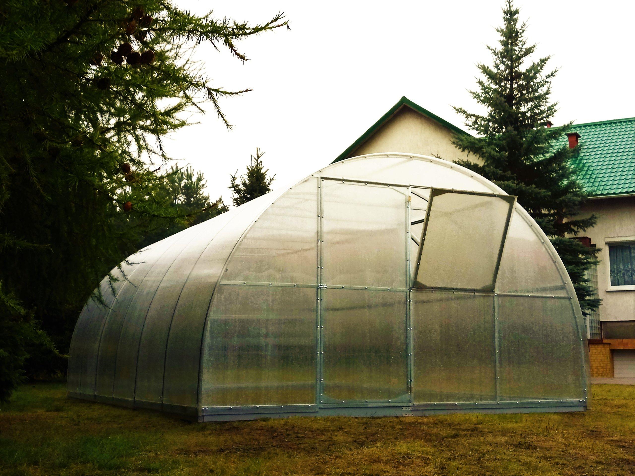 Emisie skleníkových MAESTRO 4x12m polykarbonátu komory 6 mm