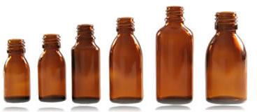 Fľaša s farmáciou 150 ml s maticou 4 ks