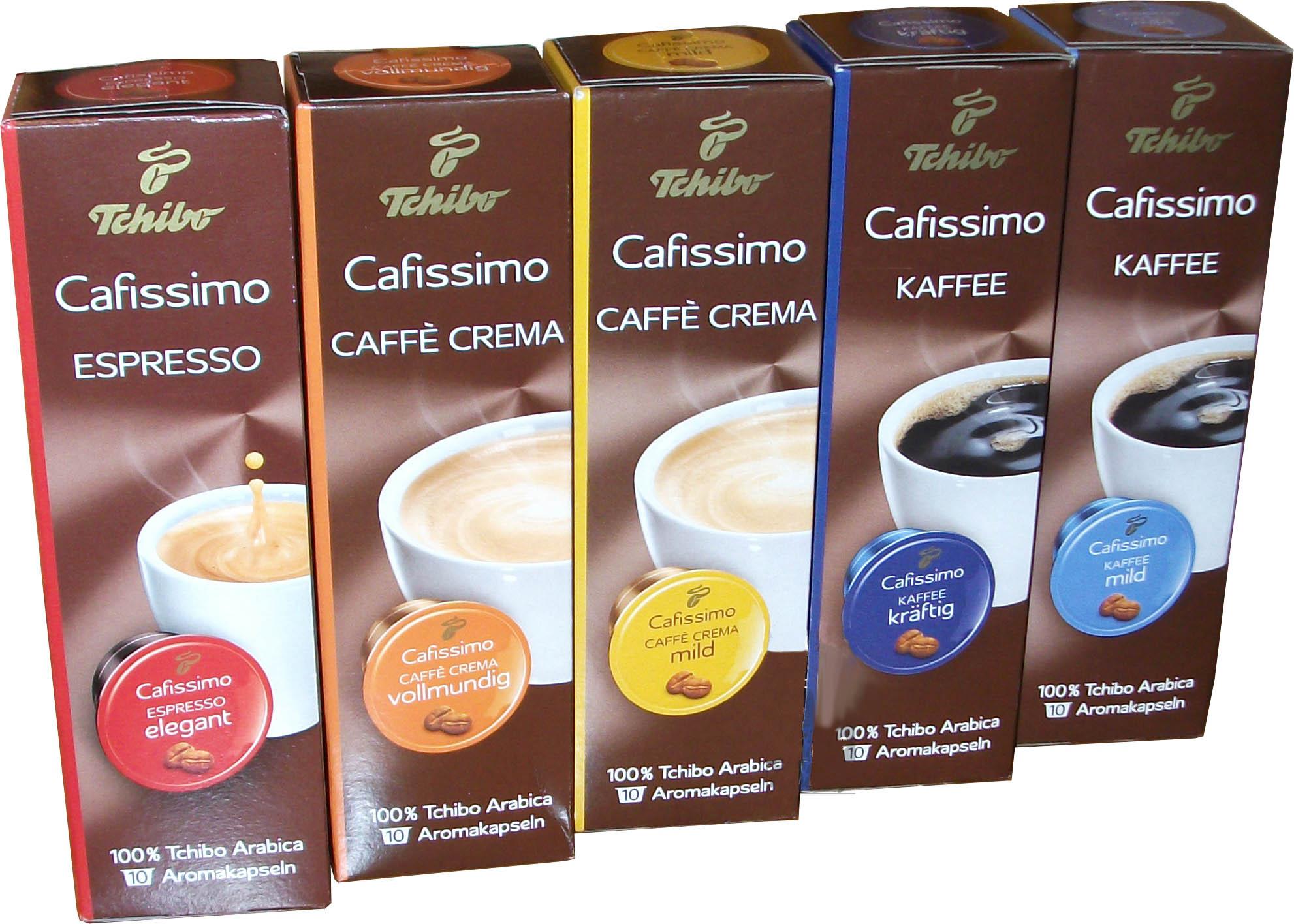 капсулы Tchibo CAFISSIMO комплект кофе 5x10