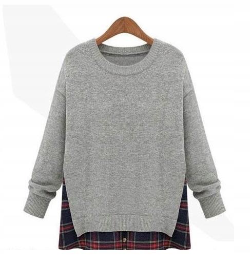 Cardigan dlhý sveter pre ženy pončo vintage L 40
