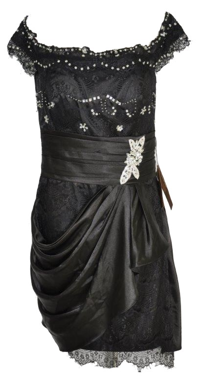 LIGHT IN THE BOX czarna nowa piękna suknia r. 42