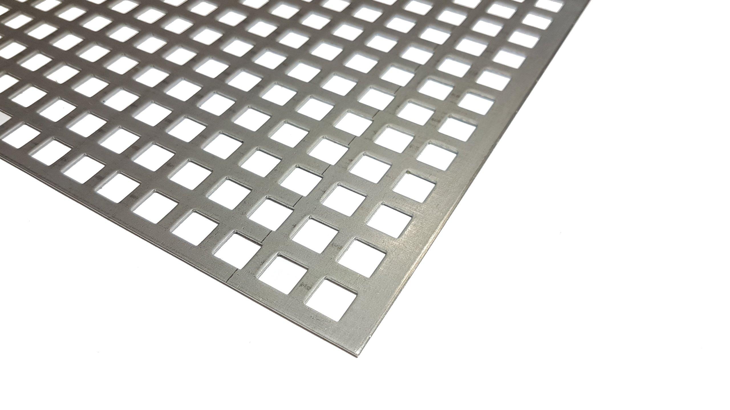 Dierovaný plech 1000 x 470 1 mm 10-15 čierna