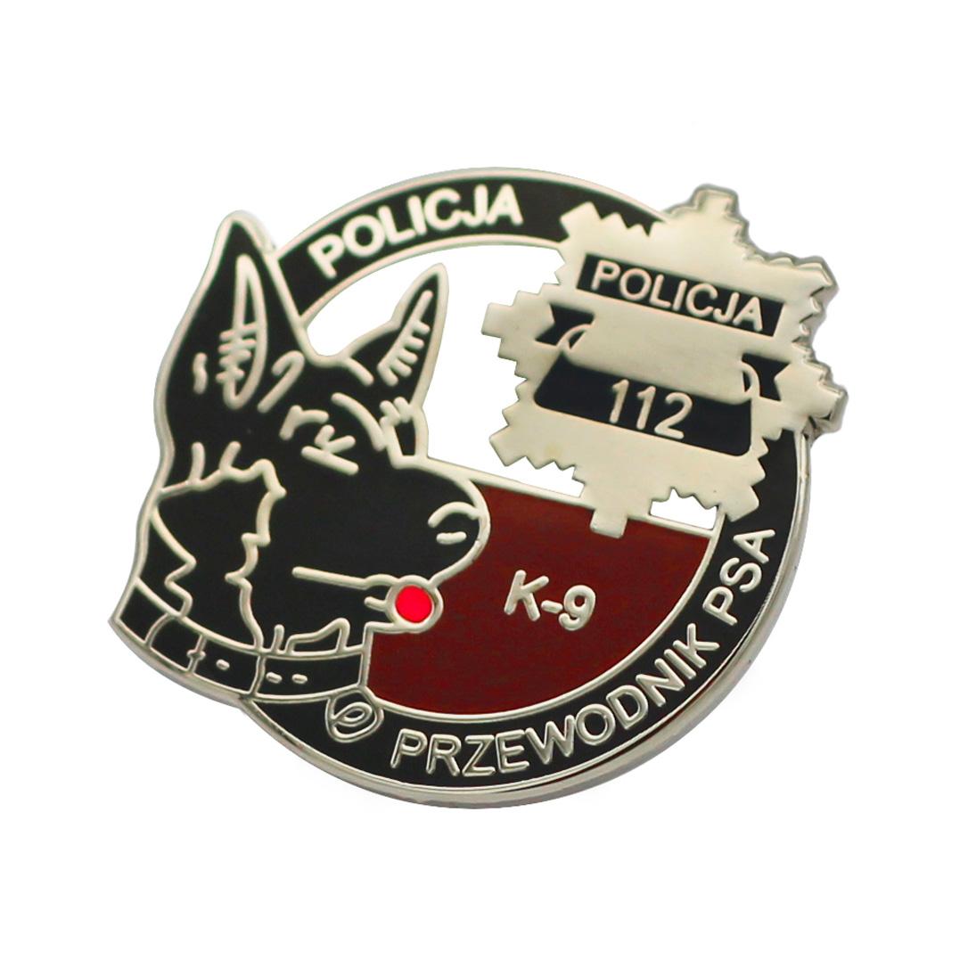 Policajný psík - pin, tlačidlá, odznak