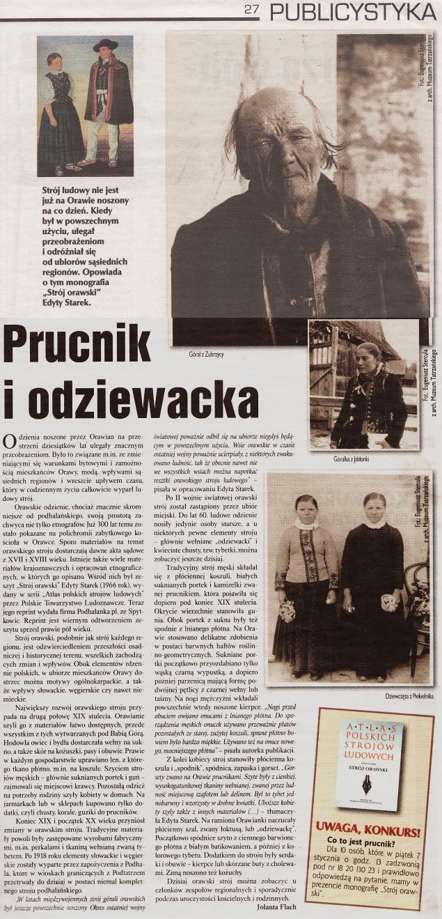 Платье Оравский Хыжне Зубжица Orawka Подвильк