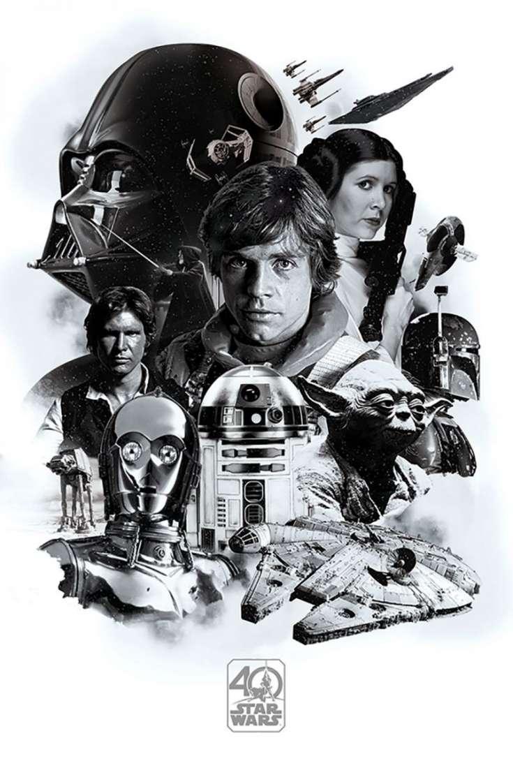 Item Star Wars Star Wars 40 years - poster 61x91,5 cm