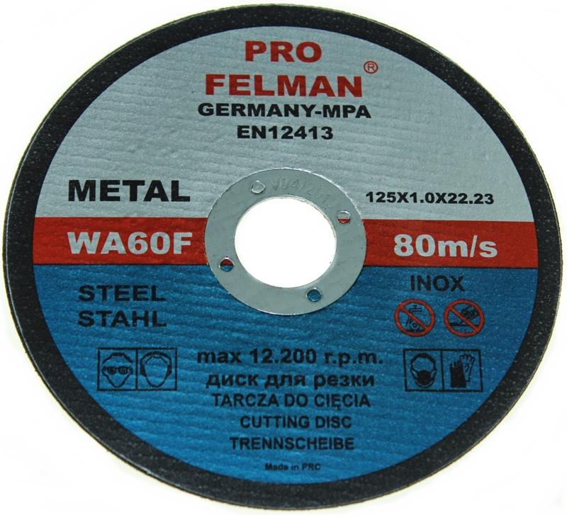 TARCZA TARCZE DO CIĘCIA METALU 125X1,0 FELMAN