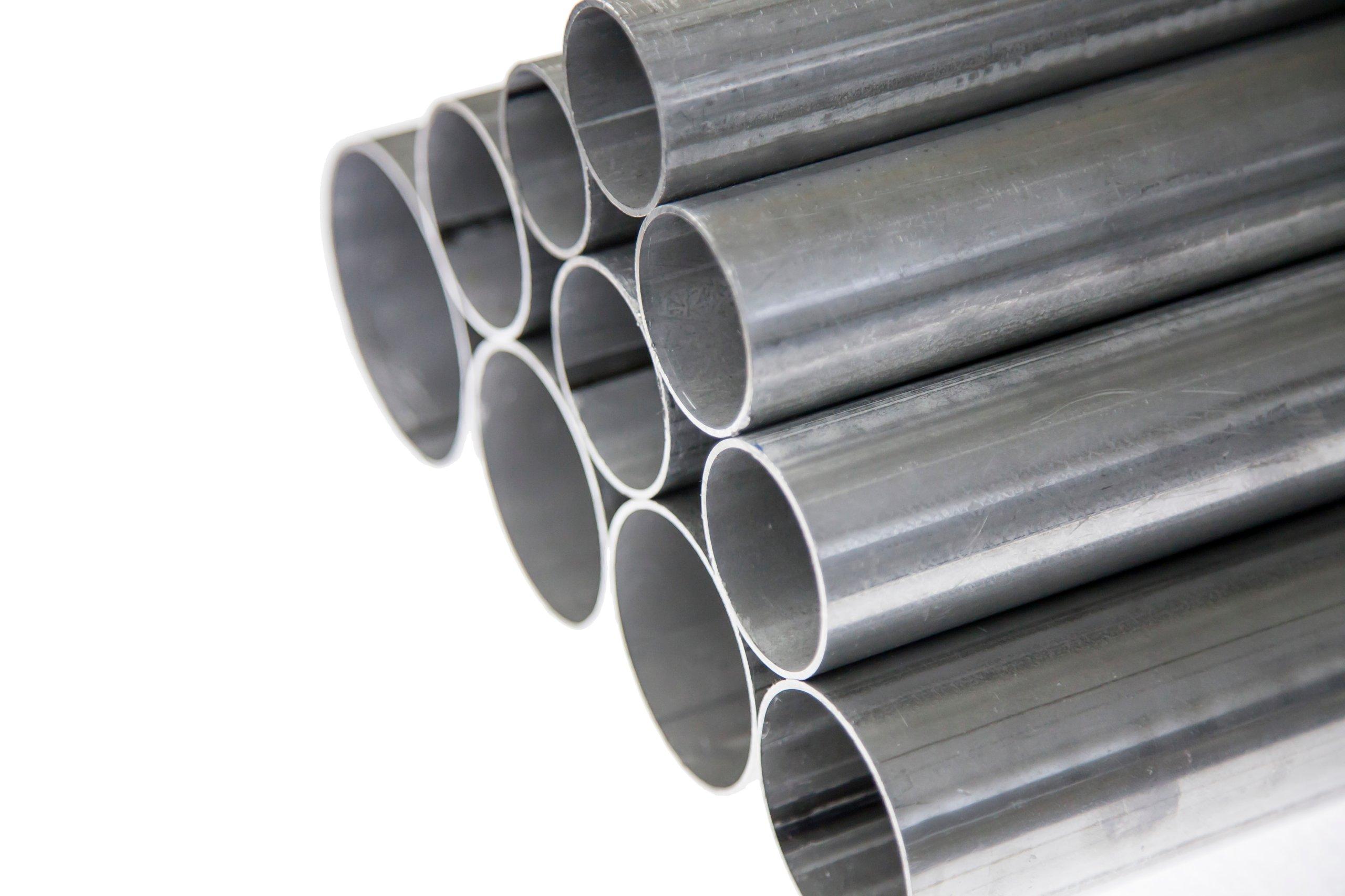Алюминиевая труба прямой выхлопной 45 мм х 1 метр