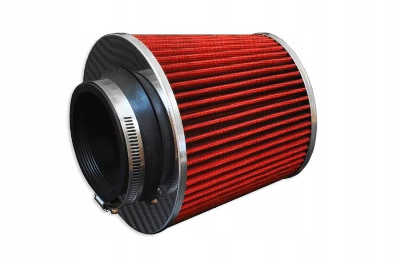 спортивный коническая фильтр воздуха 102mm красный