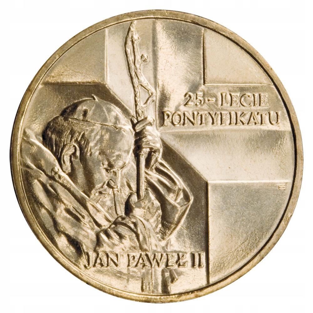 Монета 2   Иоанн Павел II - 25 летом понтификата