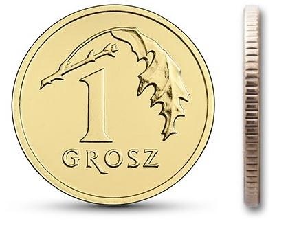 1 гр. Монета мятный пенни 2016 в мешочке