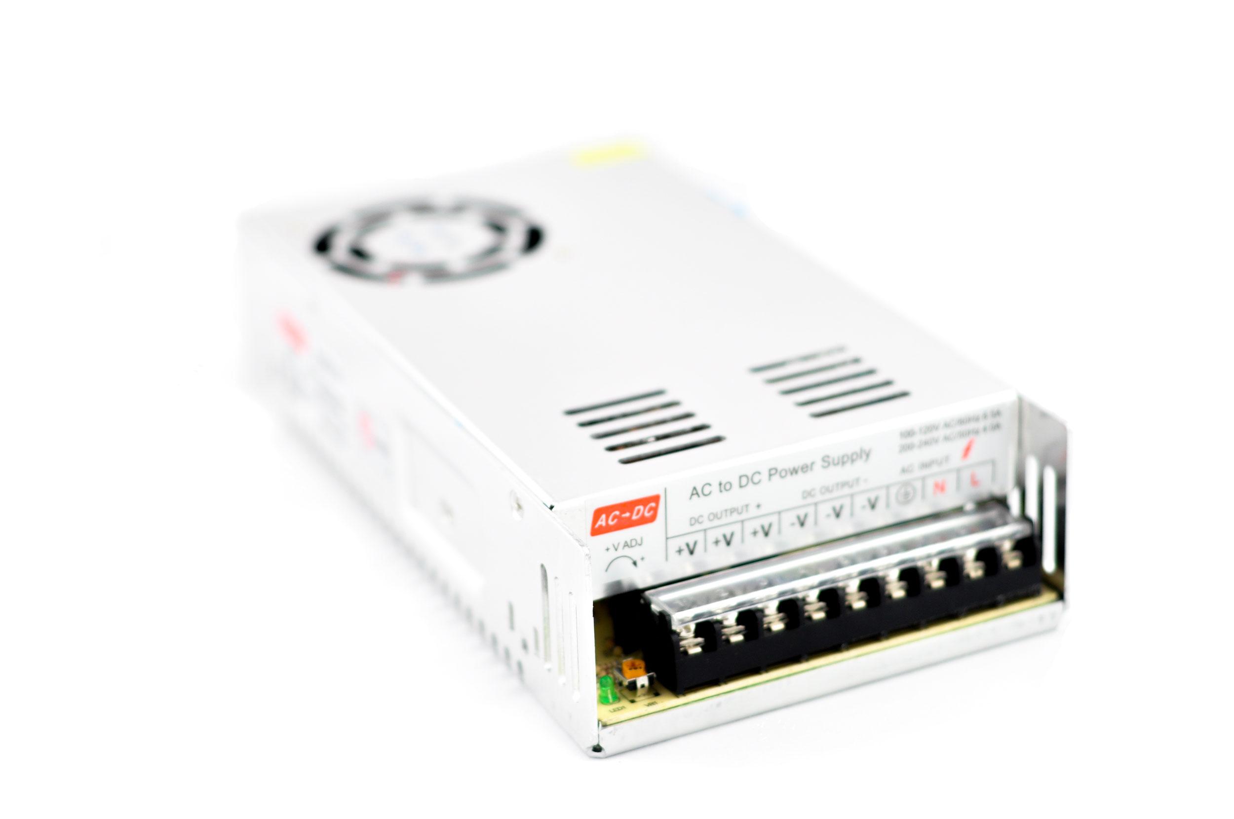 Pevný modulárny napájací zdroj 12V 30A 360W ZAPNUTIE 3D