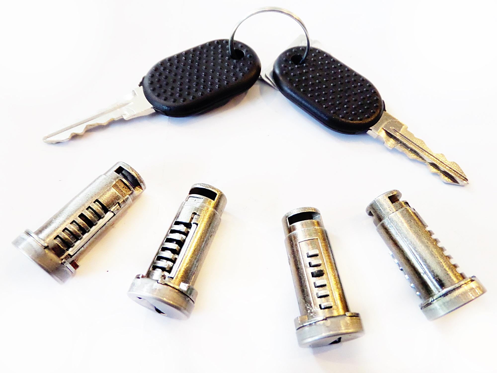 вставка барабан замка 4szt + ключи fiat 126p el