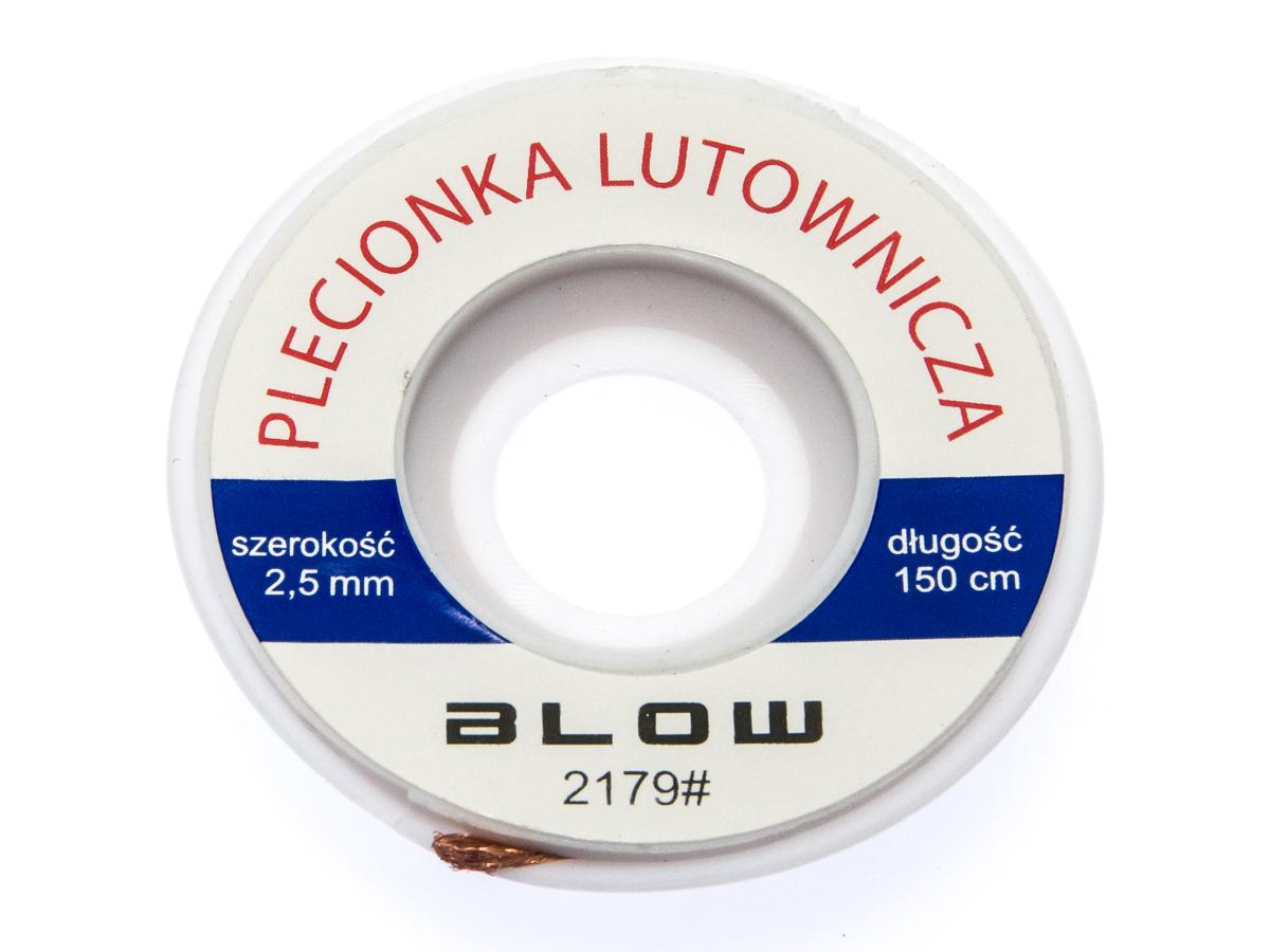 Plecionka taśma roz - lutownicza 2,5mm 1,5m