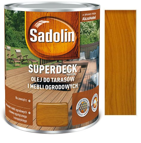 Sadolin Superdeck 5l Olej Do Drewna Tarasów Tek