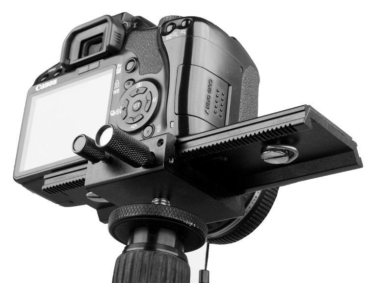 Nastavenie koľajnice pre makrofotografiu fotomátu LP-01