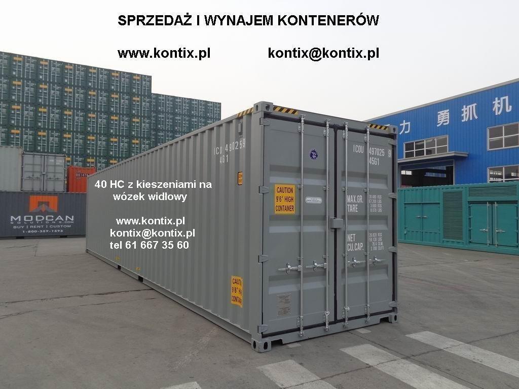40'HC контейнер склад МОРСКИ 2021 нетто 31000 злотых