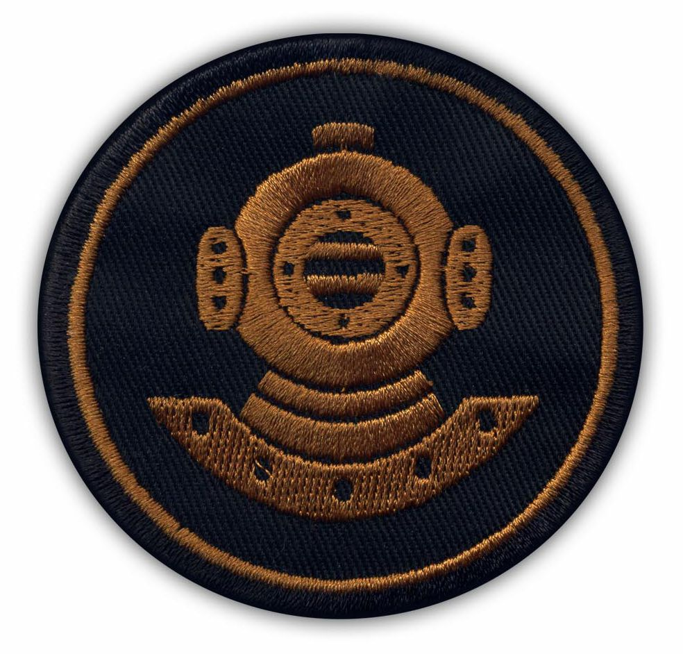 Diver - Stripe Helmet Diver Potápačský výšivkový vzor