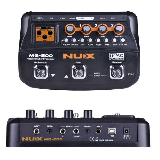 NUX MG 200 Multiffect Looper Percussion Automaticky