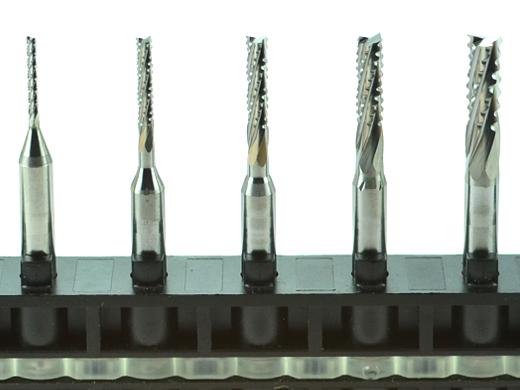 Frézovacie frézy VHM s karbidovým špirálom zlomeným CNC čipom