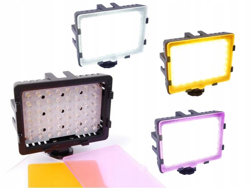 Lampa LED 48 diod gorąca stopka kamery aparat ŁÓDŹ