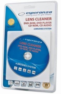 Чистящий диск Лазерный DVD, AUDIO CD, blu-RAY Esperan