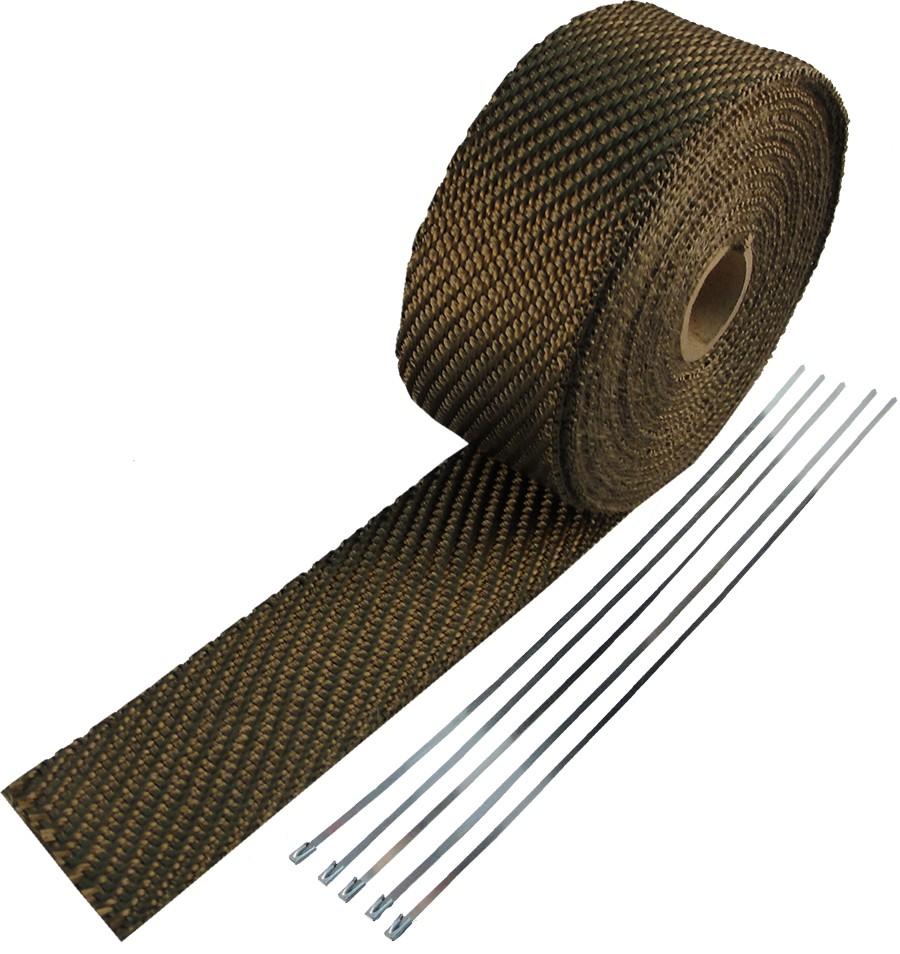 Базальтовая повязка термоизоляционная TURBO 30м + ленты