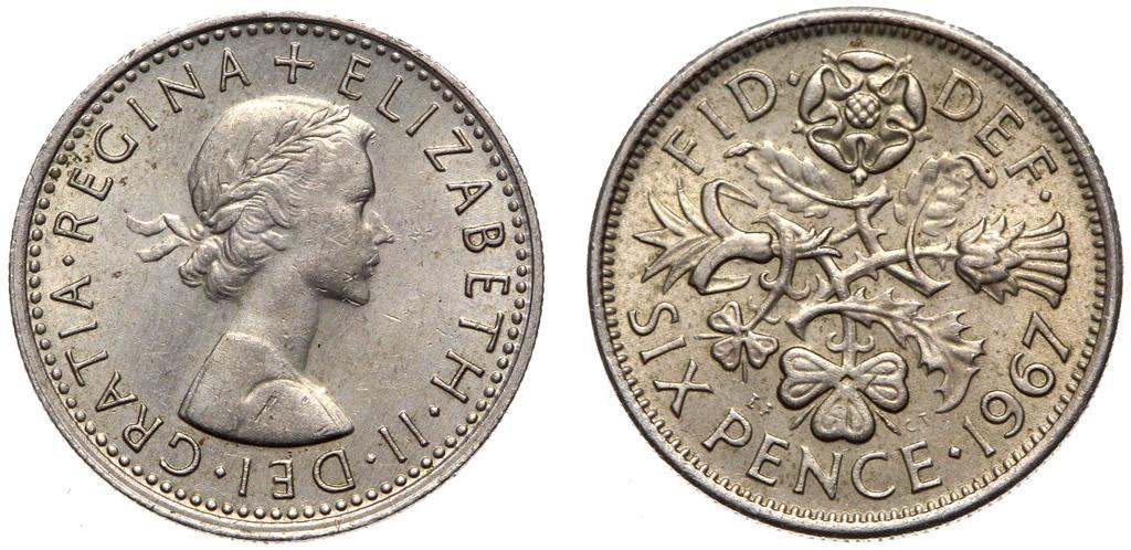 Купить Монета 6 пенни 1953-1967 - кубик королевы Брайана Мэй на Otpravka - цены и фото - доставка из Польши и стран Европы в Украину.