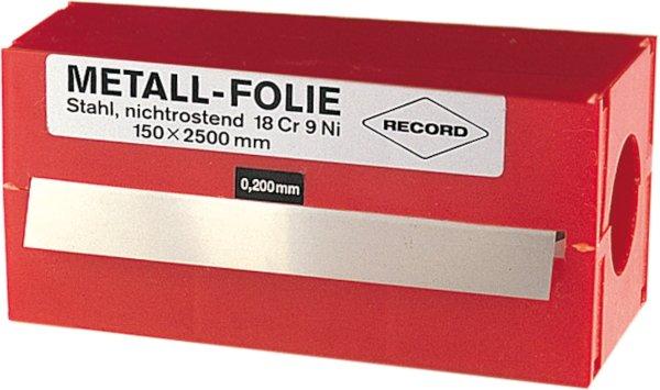 FOLIA METALOWA 150x2500x0,100M RECORD STAL NIESTOP
