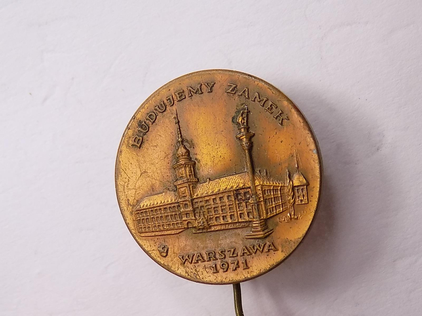 Купить знак СТРОИМ Замок Варшава 1971г на Otpravka - цены и фото - доставка из Польши и стран Европы в Украину.
