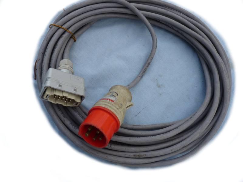 Kábel Ysty 7x1,5 10 PIN MEN - FARO 16A 5PIN 16M