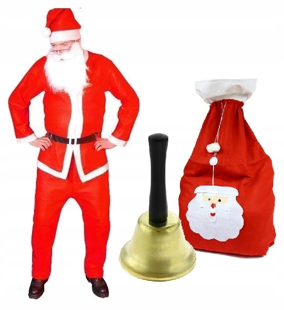 Санта-Клаус костюм маскировки колокол борода