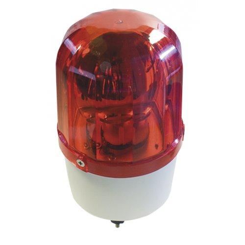 Výstražné svetlo Rooster 230V + červená morská panna